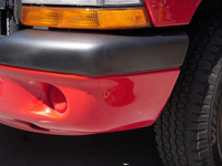 Textured Bumper Scrapes, Scratches and Holes are easily repaired